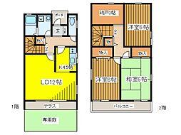 [テラスハウス] 東京都府中市本宿町1丁目 の賃貸【/】の間取り
