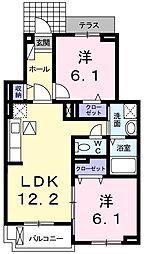 シャンエルンテV[3階]の間取り