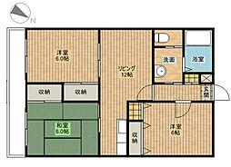 リヴェールマンション[3階]の間取り