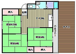 南海北野田グリーンハイツ[1階]の間取り
