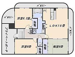 多聞館[2階]の間取り
