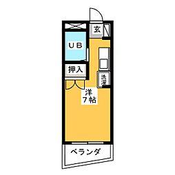1001マンション[3階]の間取り
