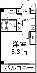 ソナーレ上北沢[203号室]の間取り