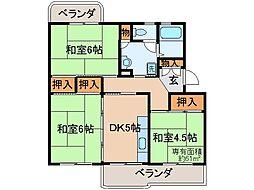 京都府京都市伏見区納所下野の賃貸マンションの間取り