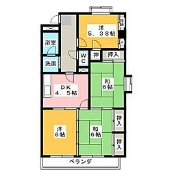 メゾン島田[4階]の間取り