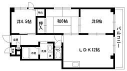 第3七耀マンション[302号室]の間取り