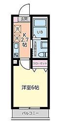 東京都世田谷区上馬3丁目の賃貸アパートの間取り