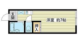 兵庫県姫路市飾磨区城南町3丁目の賃貸アパートの間取り