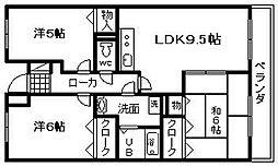 コンフォート岸和田[202号室]の間取り
