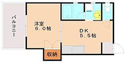 福岡県福岡市南区大橋1丁目の賃貸マンションの間取り