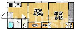 福岡県福岡市南区曰佐3丁目の賃貸アパートの間取り