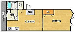 [テラスハウス] 兵庫県三木市志染町西自由が丘1丁目 の賃貸【/】の間取り