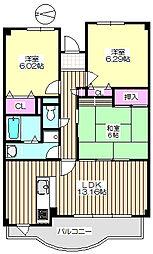 サンフラワー 205[2階]の間取り