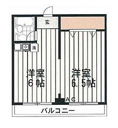 アビタシオン別所[203号室号室]の間取り