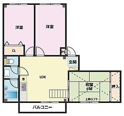 神奈川県横浜市鶴見区馬場6丁目の賃貸マンションの間取り