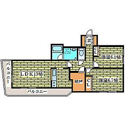 エクセラン・ノール[4階]の間取り
