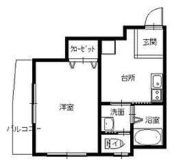 長崎県長崎市城山町の賃貸マンションの間取り