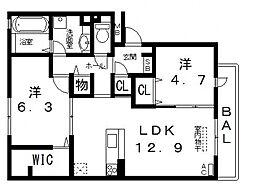 仮)D-room高美町[206号室号室]の間取り