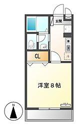愛知県名古屋市中村区長筬町2丁目の賃貸アパートの間取り