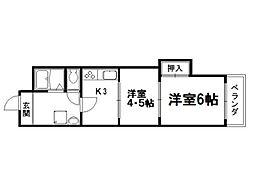 京都ノーザンフラット[3階]の間取り