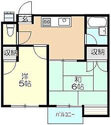 レジオンモリタ[3階]の間取り