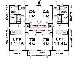 L&A240[302号室]の間取り