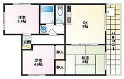 コーディアルマンション金下町[201号室]の間取り