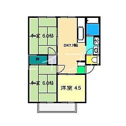 アビタシオン・高見B棟[1階]の間取り