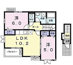 Adorer[2階]の間取り