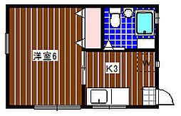 カドヤハイツ藤井B[101号室]の間取り