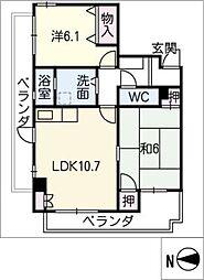和光小幡マンション 304号室[3階]の間取り