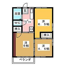 加藤ハイツA[2階]の間取り