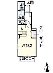 クリアネス[1階]の間取り