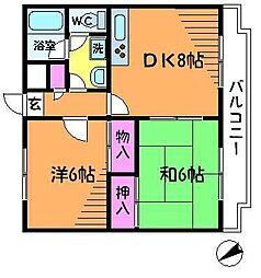 東京都調布市上石原2丁目の賃貸マンションの間取り