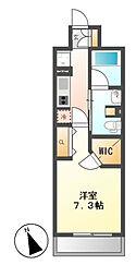 パークアクシス東別院[4階]の間取り