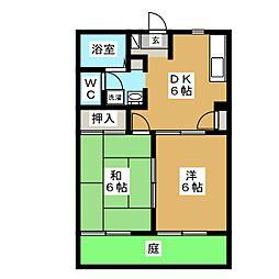サンハイツ栄 A[1階]の間取り