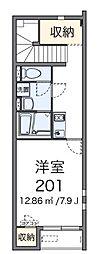 東京都三鷹市野崎4丁目の賃貸アパートの間取り