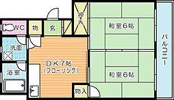 第三白石ビル[405号室]の間取り
