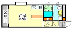 ダイワティアラ津田沼II[101号室]の間取り