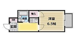 大阪府東大阪市御厨1丁目の賃貸アパートの間取り