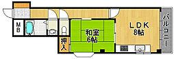 エクセレント武庫之荘[3階]の間取り