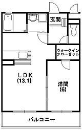 静岡県掛川市平野の賃貸マンションの間取り