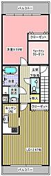 中種米澤ビル[3号室]の間取り
