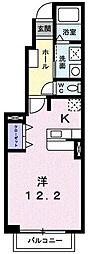 茨城県日立市相田町3丁目の賃貸アパートの間取り