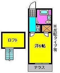 メゾントヤマ[1階]の間取り