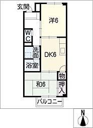 ピースハウス[2階]の間取り