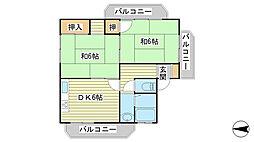 日山マンション[2-1号室]の間取り