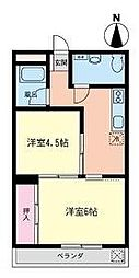 ちひろマンション[304号室]の間取り