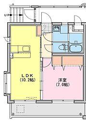 (仮称)都城牟田町マンション南棟 3階1LDKの間取り