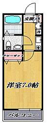 コモハイツ宮崎台[203号室号室]の間取り